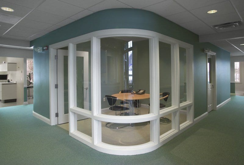 Patel Dental Curved Glass Consultation Room 8764